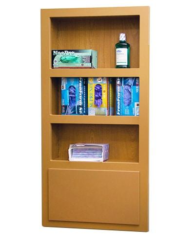 inwall, storage, wall, treatment room, operatory, cabinetry, dental storage, dental cabinetry