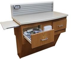 dental operatory corian slatwall universal workcenter cabinet