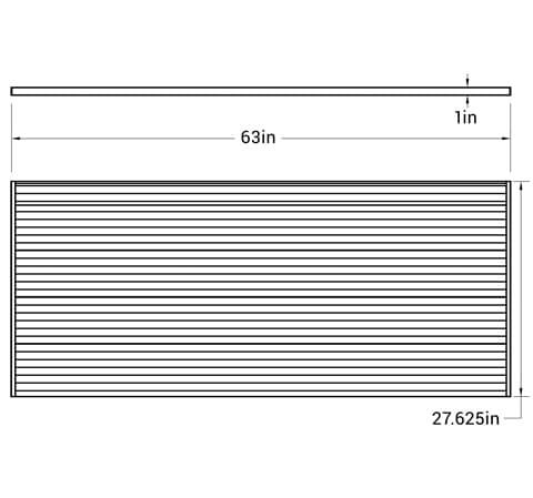 Slat Wall - M3D1 - dimensions
